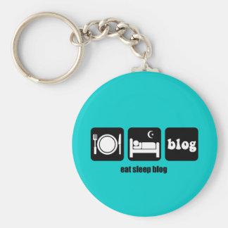 Funny blogging keychain
