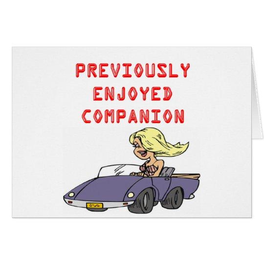 funny blonde divorce joke card