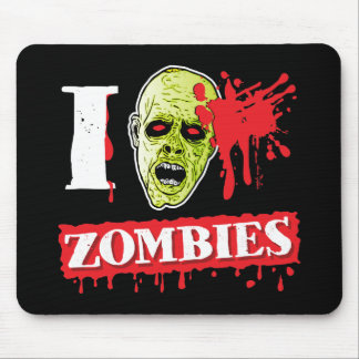 Funny Blood Spattered Zombie Mouse Mat