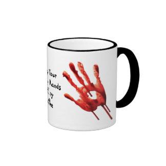 Funny Bloody Hands Coffee Mugs
