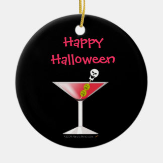 Funny Bloody Martini with Skull Halloween Christmas Ornament