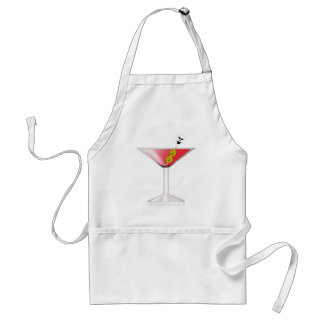 Funny Bloody Martini with Skull Halloween Standard Apron