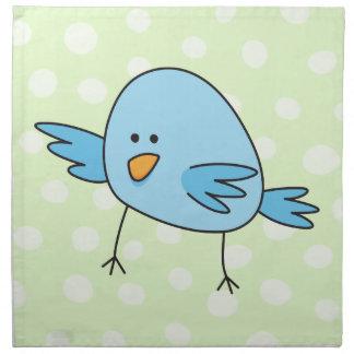 Funny blue bird kids animal cartoon napkins