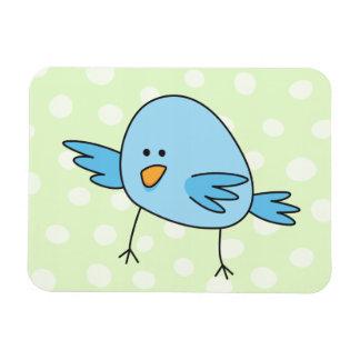 Funny blue bird kids animal cartoon flexible magnets