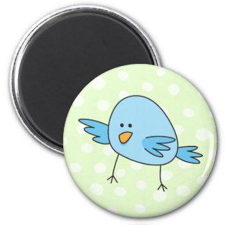 Funny blue bird kids animal cartoon fridge magnet