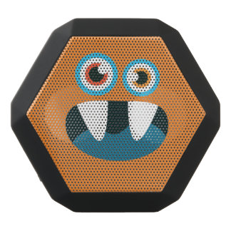 Funny Blue-Eyed  Cute Monster. Black Bluetooth Speaker