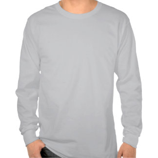 Funny Blue Hipster Owl Mens Gray LS T-shirt