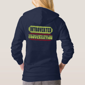 Funny Blue Introvert Pullover Hoodie