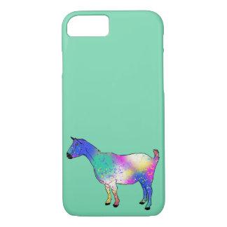 Funny Blue Multicoloured Goat Animal Art Design iPhone 8/7 Case