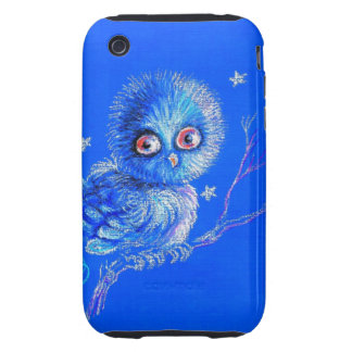 Funny Blue Owl iPhone 3 Tough Cases
