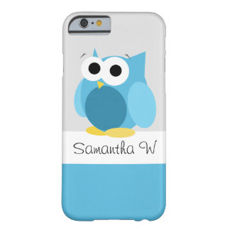 Funny Blue Owl - Personalised iPhone 6 Case Barely There iPhone 6 Case