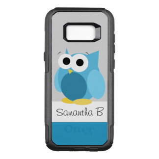 Funny Blue Owl Personalised Samsung Galaxy S8