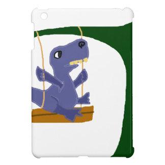 Funny Blue T-Rex Dinosaur on Swing iPad Mini Covers