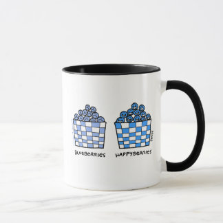 Funny Blueberries Happyberries Happy Blue Cartoon Mug