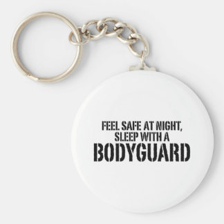 Funny Bodyguard Basic Round Button Key Ring