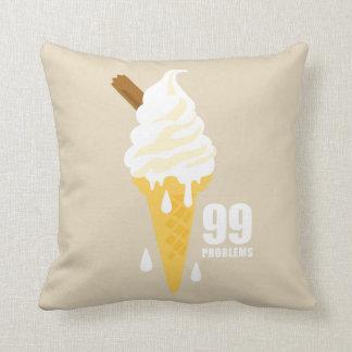 Funny bold summer icecream graphic illustration cushion