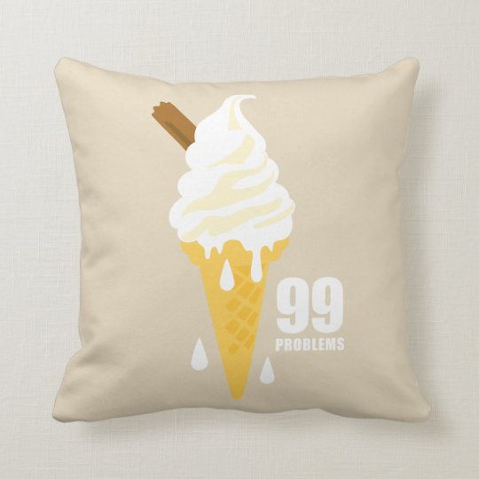 Funny bold summer icecream graphic illustration cushion