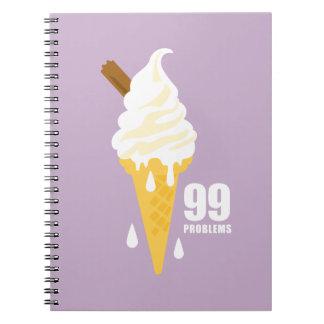 Funny bold summer icecream graphic illustration notebooks