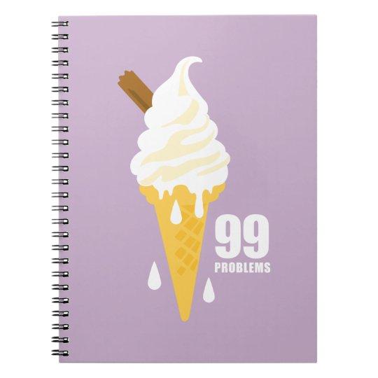 Funny bold summer icecream graphic illustration spiral notebook