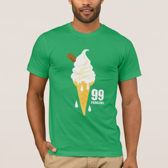 Funny bold summer icecream graphic illustration T-Shirt