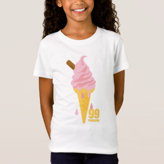 Funny bold summer icecream graphic illustration T-Shirt