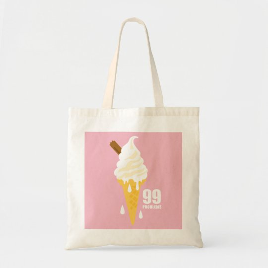 Funny bold summer icecream graphic illustration tote bag