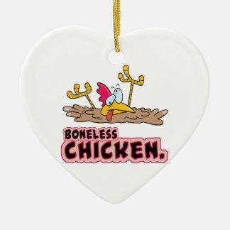funny boneless chicken cartoon christmas ornament