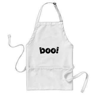 funny boo halloween apron
