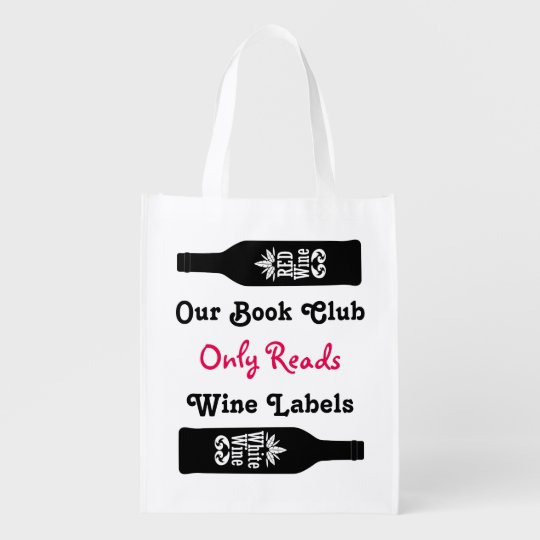 Funny book club wine sayings   Personalised Reusable