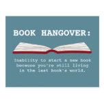 Funny Book Hangover Definition Book Lover Postcard