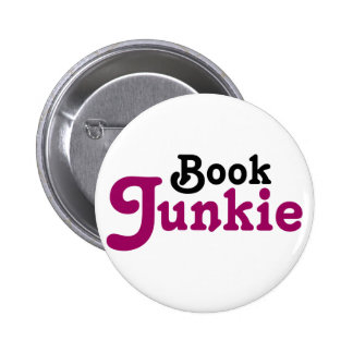 Funny Book Junkie Reading Gift 6 Cm Round Badge
