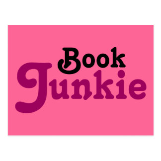 Funny Book Junkie Reading Gift Postcard