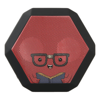 Funny Bookish Monster. Black Bluetooth Speaker