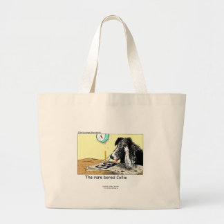 Funny Border Collie Tote Bag