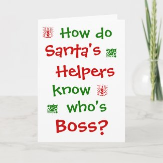 Funny Boss Christmas Joke Office Humor Pun Holiday Card