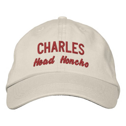 Funny BOSS Head Honcho Hat with Custom Name V10 Embroidered Hats