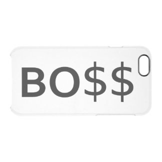 Funny BOSS Typography with dollars Clear iPhone 6/6S Case