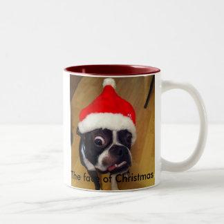 Funny Boston Terrier Christmas mug