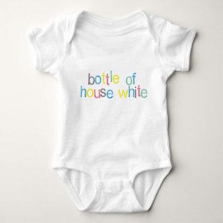 Funny! Bottle of House White (Baby Milk) Baby Bodysuit