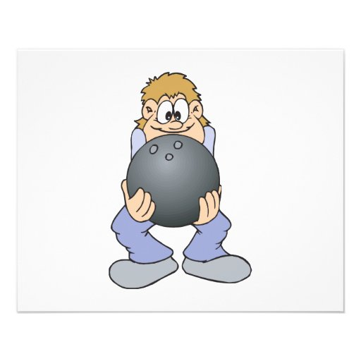 funny bowler with BIG bowling ball Personalized Flyer