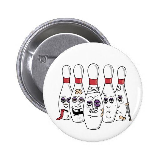 Funny Bowling 6 Cm Round Badge