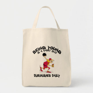 Funny Bowling Dad Father's Day T-Shirt Grocery Tote Bag