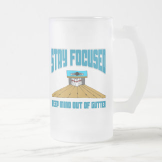 Funny Bowling Keep Mind Out Of Gutter Frosted Glass Beer Mug