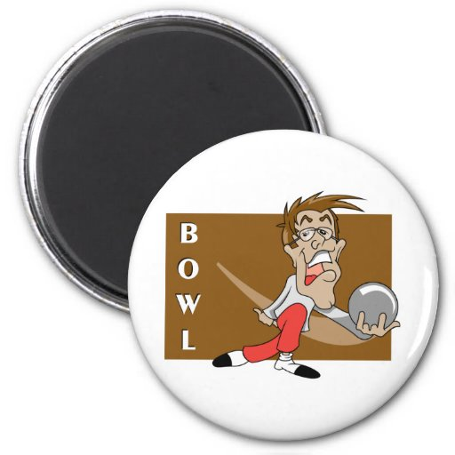 Funny Bowling Magnets