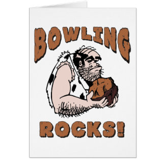Funny Bowling Rocks T-Shirt Gifts Greeting Card