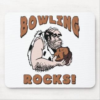 Funny Bowling Rocks T-Shirt Gifts Mouse Pad