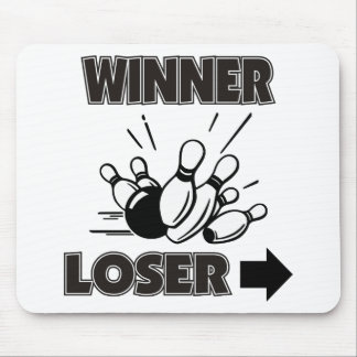 Funny Bowling Winner Loser Mouse Pad