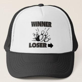 Funny Bowling Winner Loser Trucker Hat
