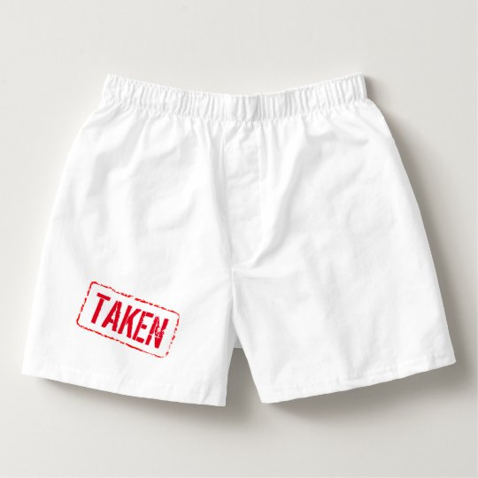 Funny boxer shorts for men with rubber stamp