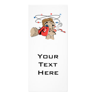 funny boxing cartoon punched in the face personalized rack card